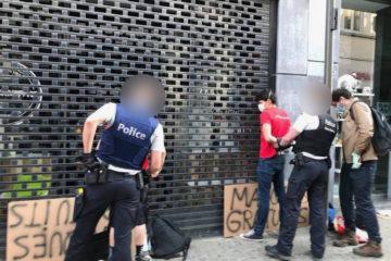 Arrestation lors d'une distribution de masques à Mons
