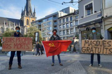 Distribution de masques à Liège 5