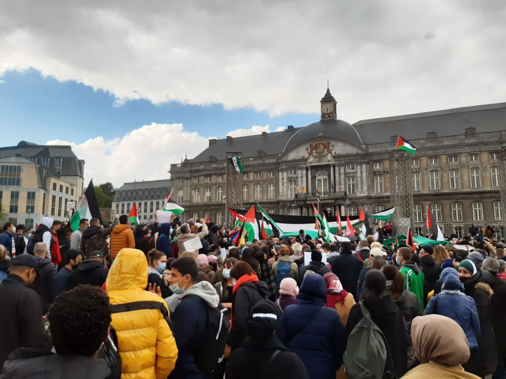 Rassemblement pour la Palestine à Liège