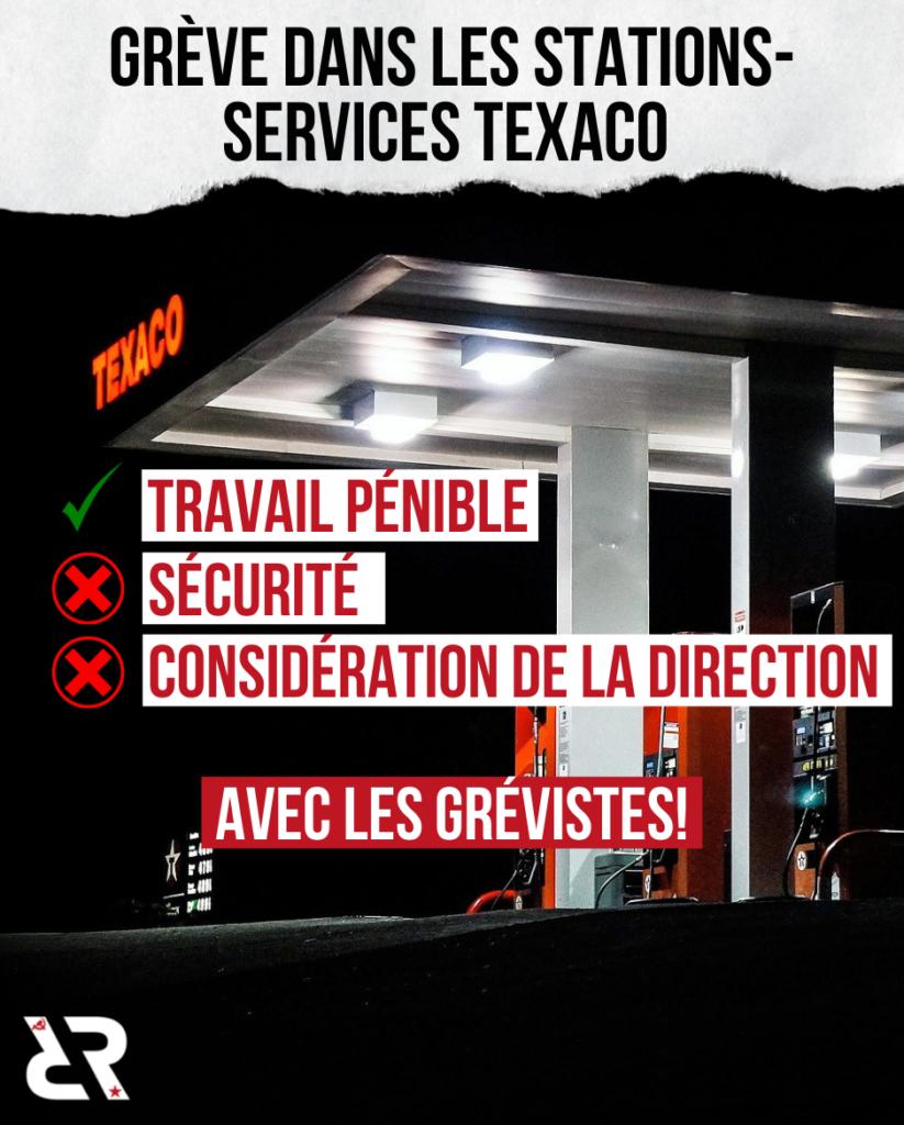 Grève dans les stations-services TEXACO