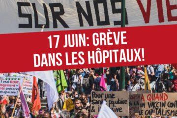 17 Juin : Grève dans les hôpitaux !