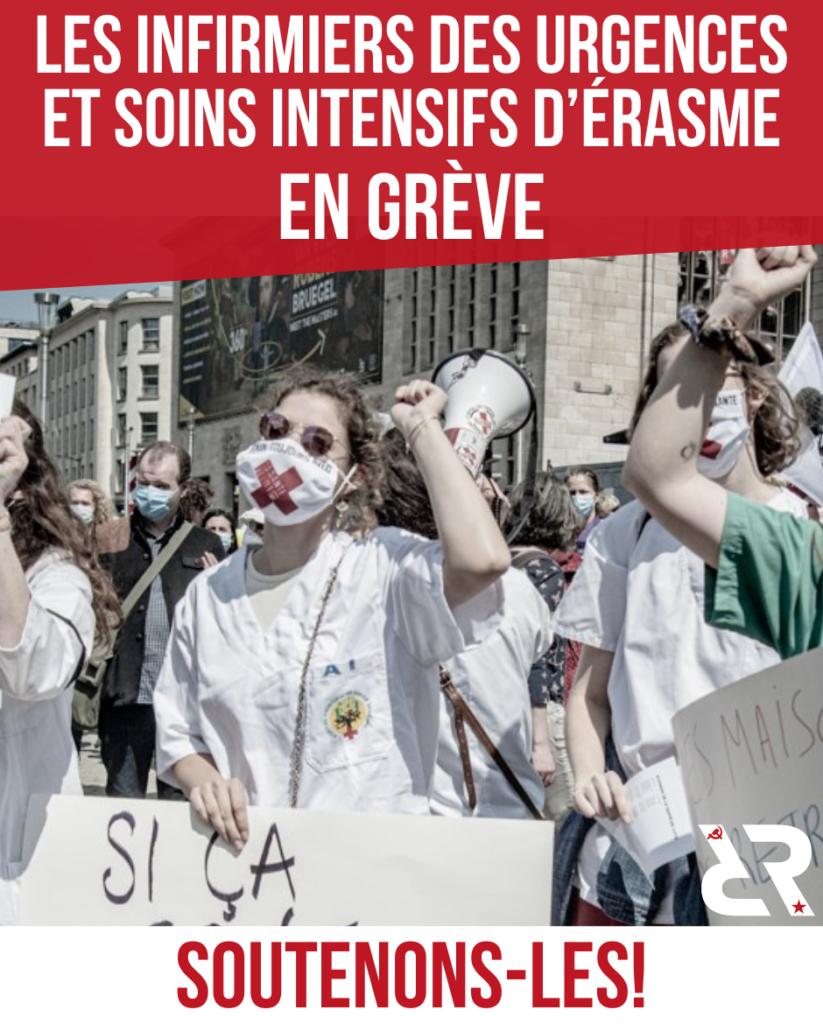 Les infirmiers des urgences et soins intensifs d'Erasme en grève