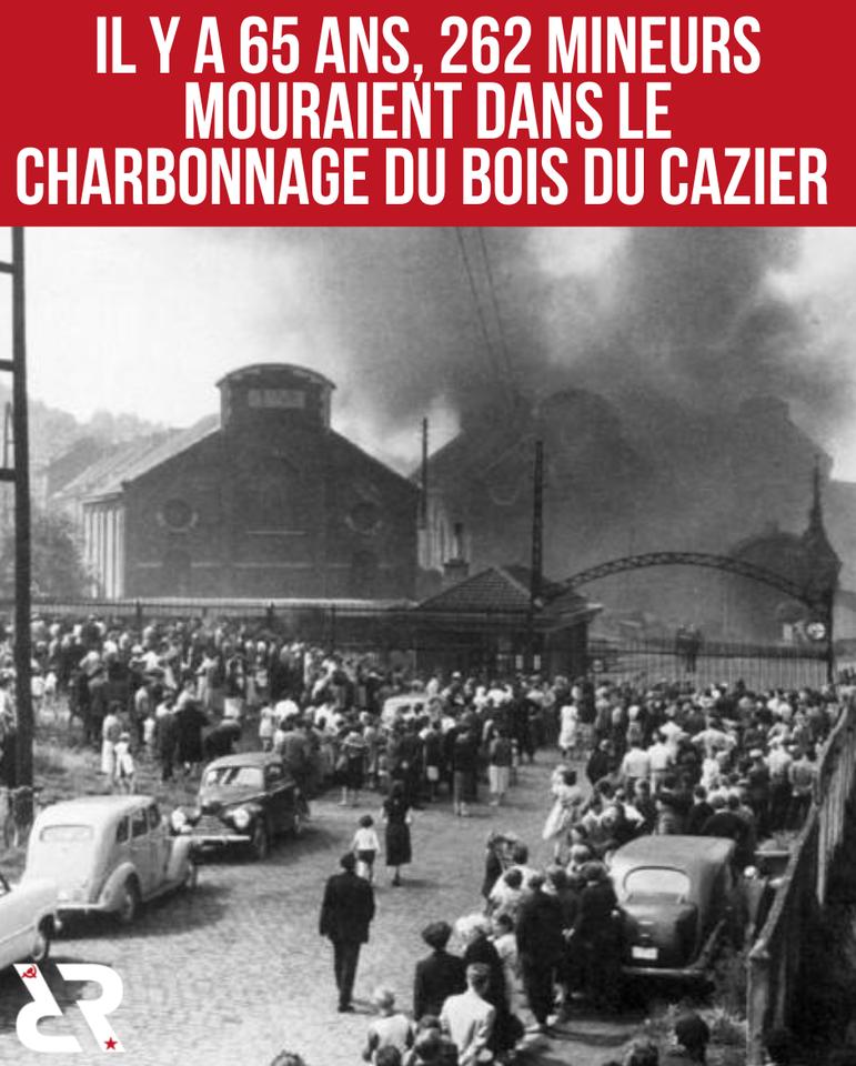 Il y a 65 ans, 262 mineurs mouraient dans le charbonnage du bois du cazier